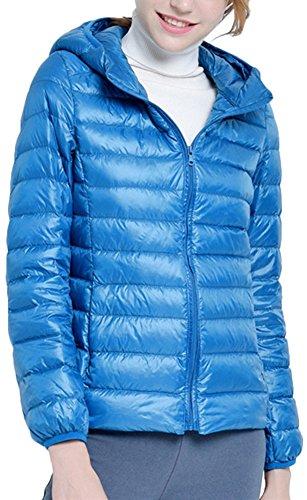 Giacche Rivestimento Leggero Zipper Cappuccio Piumino per Donna Del Invernale Ultra Pavone Parka Classico con Del Cappotto Mochoose Txd4BwvpTq