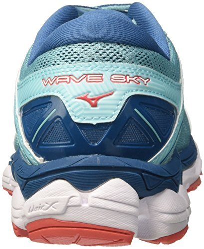 Hotcoral Mujer 01 Zapatillas Wave Aquasplash White Running para Multicolor Mizuno Sky Wos de qPKHgF