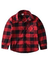 Encontrar Boys' Long Sleeve Flannel Plaid Shirt 3T-14