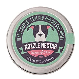 Nozzle Nectar | Dog Nose Balm Relieves and Repairs Your Dog's Dry Cracked and Crusty Nose with 100% Organic and Natural Ingredients |2 OZ| Made in The USA.