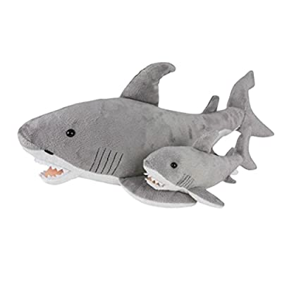 "Birth of Life Great White Shark with Baby Plush Toy 23"" Long: Toys & Games"