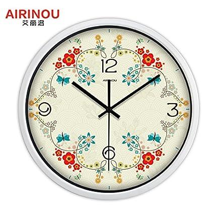 Y Hui The Circular Living Room Garden Wall Clock Garlands Bedroom Large  Quartz Clock Wall