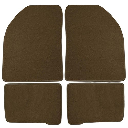 Coverking Front and Rear Floor Mats for Select Bronco II Models - 40 Oz Carpet (Beige)