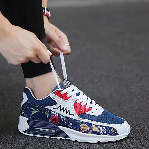 Chaussures La Sport Résistant Sneakers Plein lin Air Mode L'usure Respirantes Casual En À Nouveau Day Bleu Hommes De Lumière Liquidation Lacets 4BIWq4Pzp