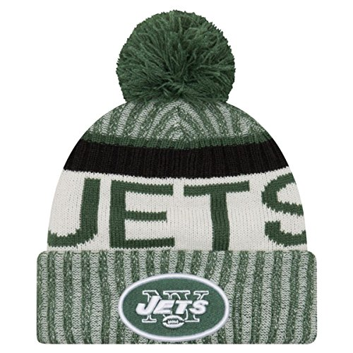 Men's New Era Men's Jets New Era 2017 Sideline Official Sport Knit Hat Green Size One Size - New York Jets Knit Hat