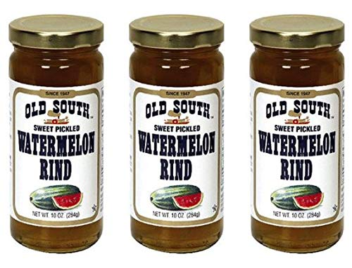 Old South Watermelon Rind Pickled Sweet, 10 oz (Pack of 3) (Pickled Sweet)