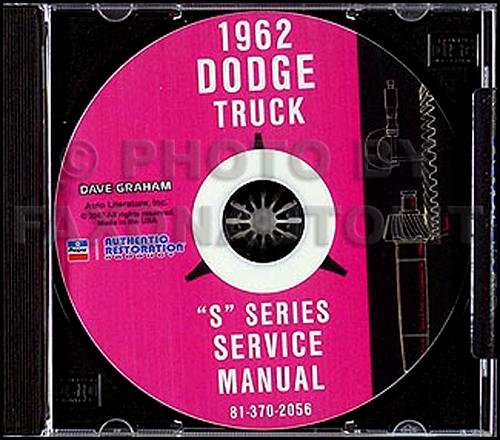 Download COMPLETE & UNABRIDGED 1962 DODGE TRUCK & PICKUP FACTORY REPAIR SHOP & SERVICE MANUAL CD - FOR: panel, Power Wagon, Conventional, Forward Control, Bus, 4X4, 6X4, Low Cab Forward, Diesel, D, C, P, S, W, KC, NC, KCT, NCT, & CT pdf epub