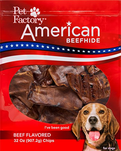 - Pet Factory American Beefhide Chews 38346 Rawhide Beef Flavor Chips for Dogs. American Beefhide is a Great Natural Source for Protein, Assists in Dental Health. Jumbo Value Pack 2 Pounds of Chips
