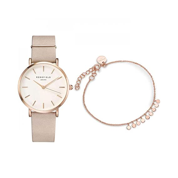 Rosefield VBPR-X002 West Village Soft Pink + Baxter Rose Gold: Amazon.es: Relojes