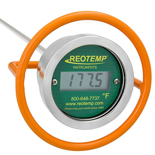 REOTEMP Heavy Duty Digital Compost Thermometer - Fahrenheit (36 Inch Stem), Made in The USA