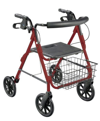 Drive Medical 750NR D-Lite Rollator, Red