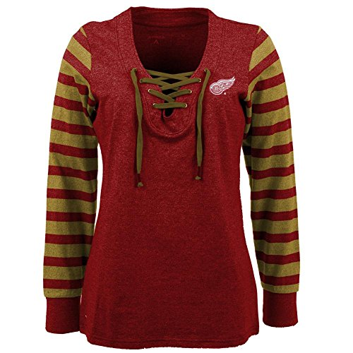 Detroit Red Wings Women's Lace Up Sweatshirt (Antigua Detroit Red Wings Jacket)