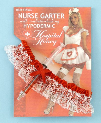 R Themed Party Costumes (Nurse Garter with Hypodermic Needle)