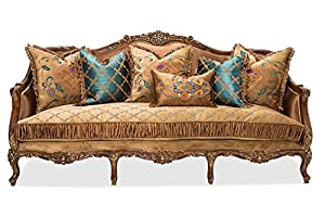Sienna Wood Trim Sofa In Butterscotch By Aico Amini   French Victorian  European