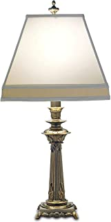 product image for Stiffel TL-A856-RB One Light Table Lamp, Roman Bronze Finish with Off White/Tan Shade