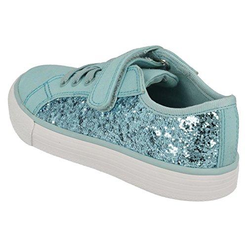 Clarks BrillPrize Inf - zapatilla deportiva de material sintético niña azul hielo