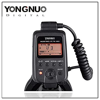 Yongnuo YN-14EX TTL Macro Ring Lite Flash Light for Canon EOS DSLR Camera with 4 Adapter Rings (52mm/58mm/67mm/2mm.) - Work as MR-14EX by Yongnuo