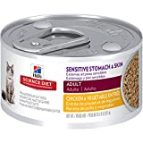 Hill's Science Diet Adult Sensitive Stomach & Skin Wet Cat Food, Chicken & Vegetable Entrée Canned Cat Food, 2.9 oz, 24 Pack