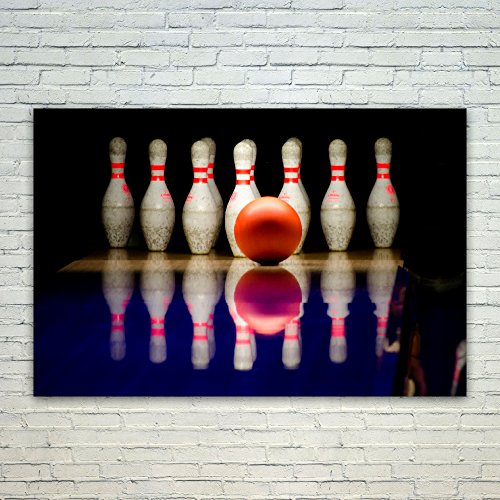 Bowling Pin Photo (Westlake Art Bowling Pin - 12x18 Poster Print Wall Art - Modern Picture Photography Home Decor Office Birthday Gift - Unframed 12x18 Inch (6F76-6D13C))