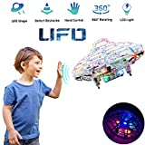 Flying Ball Toy, Cool UFO Hand-Controlled Drone Quadcopter Flying RC Toy for Boys Girls Valentines Gift,Colorful Flashing LED Lights Interactive Infrared Induction Helicopter Ball with 360Rotating