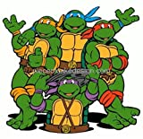 1/4 Sheet ~ 90s Teenage Mutant Ninja Turtles Cartoon Birthday ~ Edible Image Cake/Cupcake Topper!!!
