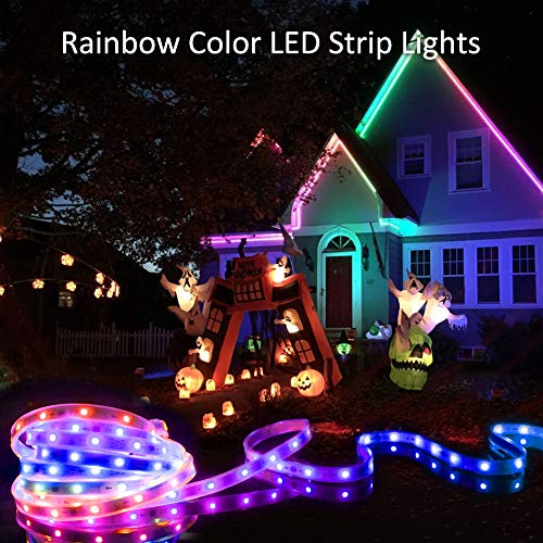 Christmas Led Strip Lights.Led Rope Lights 5m 16 4ft Color Changing Rgb Led Strip Lights With Remote Flexible Led Strip Rope Lights Plug In Waterproof Led Lights For Outdoor