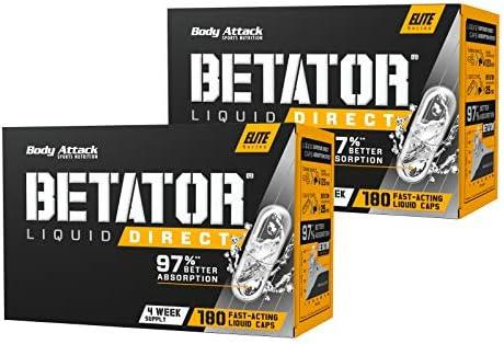 Body Attack BETATOR, vegane hochdosierte Liquid Caps, patentiertes Erfolgsprodukt, Kraftsteigerung & Muskelaufbau-Ziele...