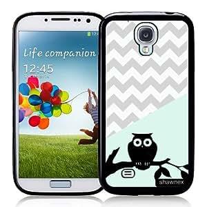 Galaxy S4 Case - S IV Case - Shawnex Owl Mint Grey Chevron Samsung Galaxy i9500 Case Snap On Case