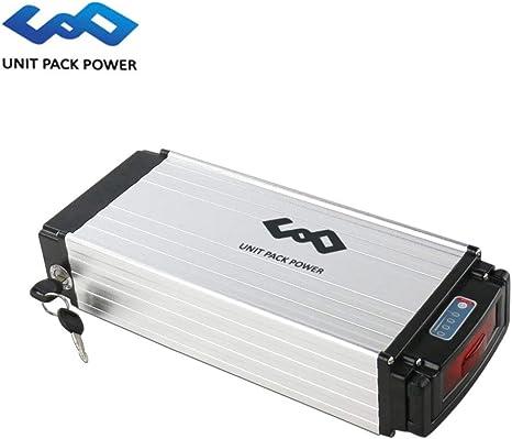uppcycle Batería de Litio para Bicicletas eléctricas, 36V 20AH / 13AH Rack Battery + Taillight + 3A / 2A Charger + Safe Lock, Ajuste Bafang 500W (Sliver, 36V 20AH): Amazon.es: Deportes y aire libre