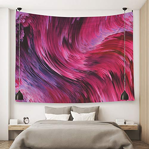 Ofat Home Purple Abstract Art Tapestry Wall Hanging Decor Fabric Home Dorm Decor 59''x78.7''