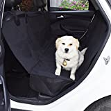 MJSTAR Pet Seat Cover Car Seat Cover for Dogs with Slide Flaps Nonslip Durble Bench Seat Cover for Cars Trucks and SUV, Waterproof Oxford Fabric 600D, Hammock Convertible??¡­ Review