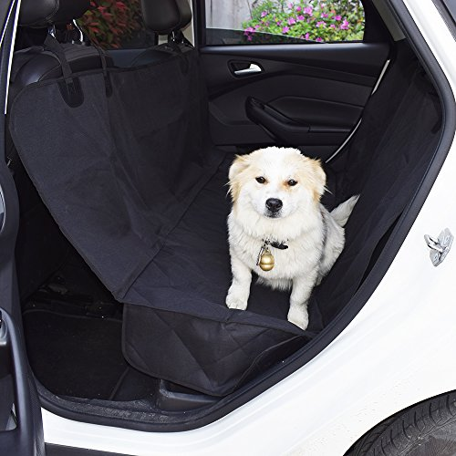 MJSTAR Pet Seat Cover Car Seat Cover for Dogs with Slide Flaps Nonslip Durble Bench Seat Cover for Cars Trucks and SUV, Waterproof Oxford Fabric 600D, Hammock Convertible??¡ Review