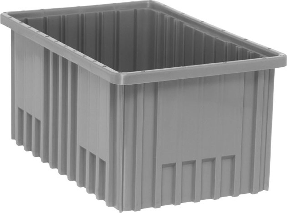 Quantum Storage Systems DG92080GY Dividable Grid Container 16-1/2-Inch Long by 10-7/8-Inch Wide by 8-Inch High, Gray, 8-Pack