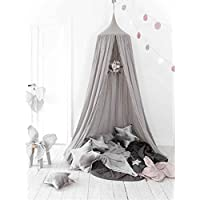 Mosquito Net Canopy, Cotton Canvas Dome Princess Bed...