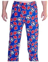 Sporticus Men's MLB Toronto Blue Jays Super Soft Pajamas (Blue)