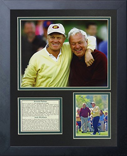 (Legends Never Die Jack Nicklaus and Arnold Palmer Portrait Collage Photo Frame, 11