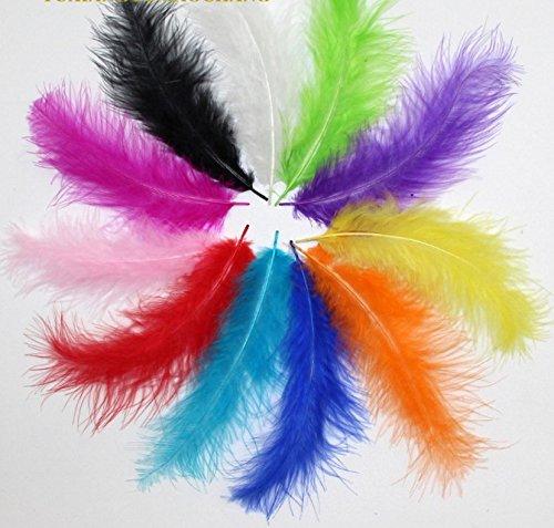 jiaqinsheng sobre 100pcs cromática pluma de avestruz para decoración Mixed Color