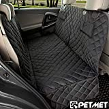 PETMET Car Seat Covers For PETS, DOG & CAT Scratch Proof, Waterproof, Nonslip Backing & dog Hammock, Padded, Machine Washable Seat Cover Dog seat harness WITH LEASH