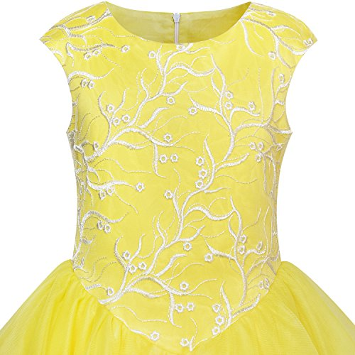 Girls Dress Ball Gown Princess Belly Beauty And Beast Age 6-12 Years:  Amazon.co.uk: Clothing