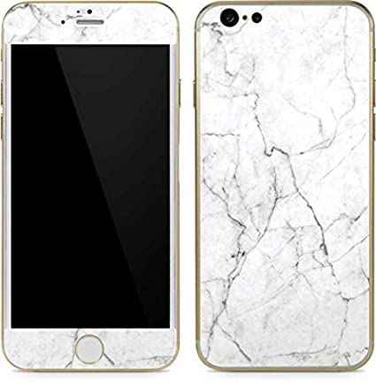 Marble iphone 6 6s skin white marble vinyl decal skin for your iphone 6