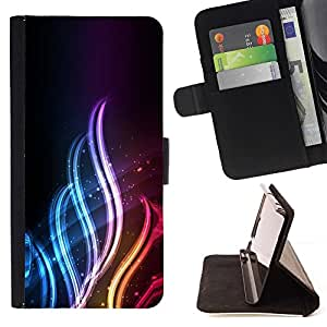 BETTY - FOR Sony Xperia Z1 Compact D5503 - Neon Flame - Style PU Leather Case Wallet Flip Stand Flap Closure Cover