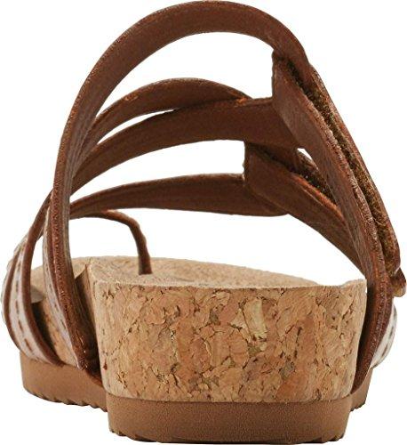 Walking Cradles Womens Panama Flat Sandal Luggage Zachte Antanado