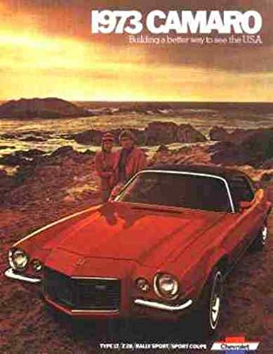 1973 CHEVROLET CAMARO BEAUTIFUL DEALERSHIP SALES BROCHURE - ADVERTISMENT Includes Rally Sport RS, Sport Coupe, Super Sport SS Z28 and Convertible CHEVY 73 Chevrolet Camaro Sales Brochure