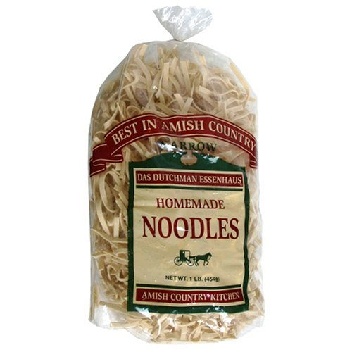 Essenhaus Amish Country Homemade Noodles, Narrow, 16-Ounce Bags (Pack of 6)