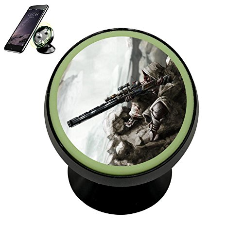 Magnetic Phone Car Mount Holder with Sniper Gunner Strong Magnets Vehicle Cradle Stand Dashboard Mounts Cell Phone GPS Universal Noctilucent - Gunner Gps