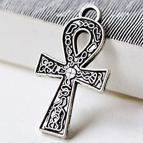 - Ankh Charms 5 Antique Silver Ankh Charms Egyptian 38x21mm Symbol Charm Craft Supplies (NS695)