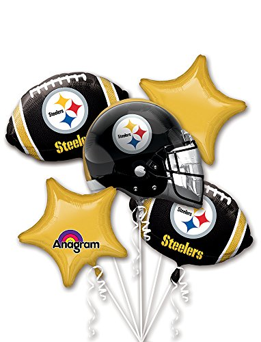 Anagram Bouquet Steelers Foil Balloons,