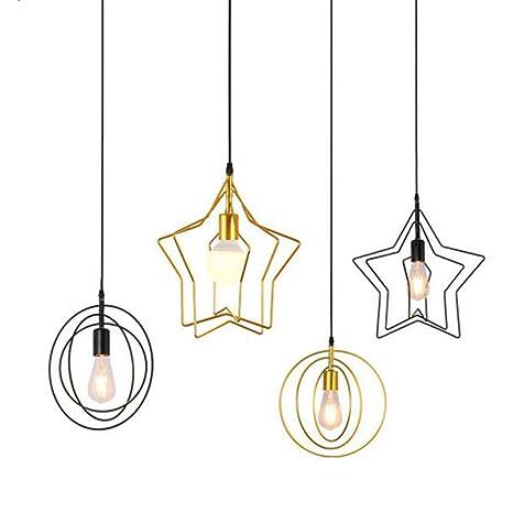 Wankd Lámpara colgante de estrella, vintage, LED, lámpara de ...