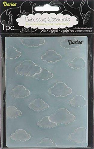 "Darice Embossing Folder 4.25""X5.75"", Clouds"