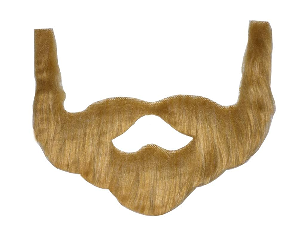 Novelty Giant Brown Redneck Beard with Mustache & Sideburns Costume Accessory